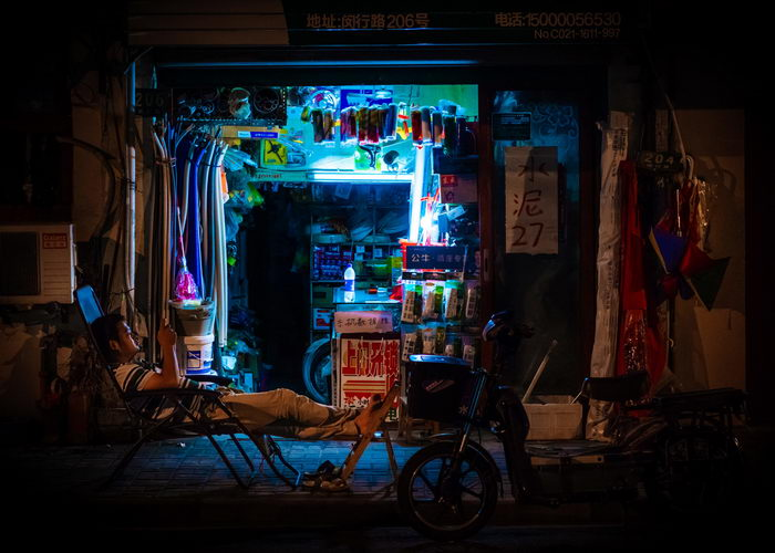 Ночной Шанхай в фотографиях Florian Mueller