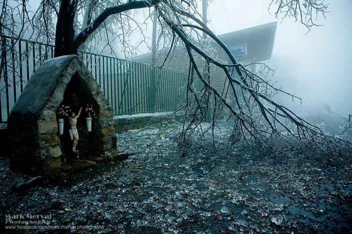 Ледяной дождь в Будапеште