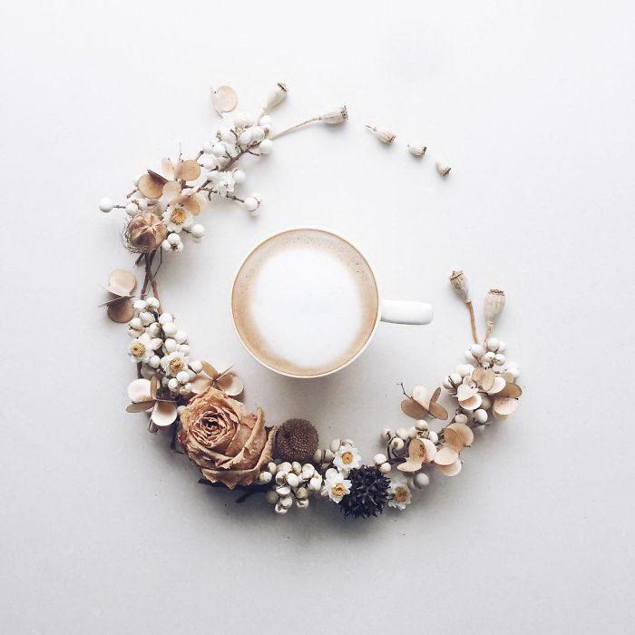 Искусство утреннего кофе: работы La Fee De Fleur