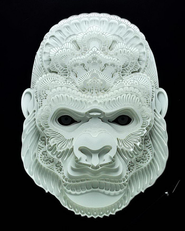 Бумажные портреты животных Patrick Cabral
