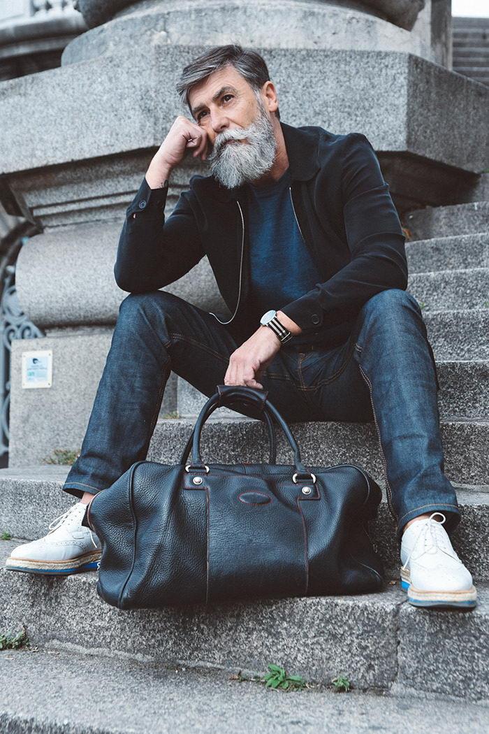 Модельная карьера после 60 лет: история Philippe Dumas