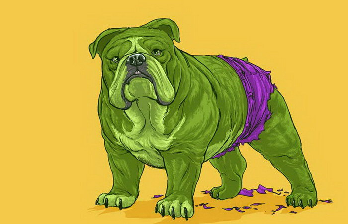 Собаки Вселенной Marvel в иллюстрациях Josh Lynch