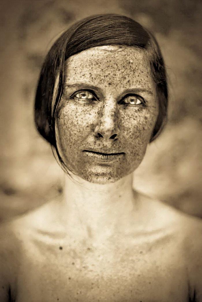 Веснушки на портретах Fritz Liedtke