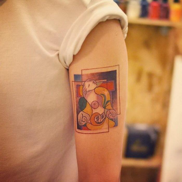 Татуировки в стиле Пикассо