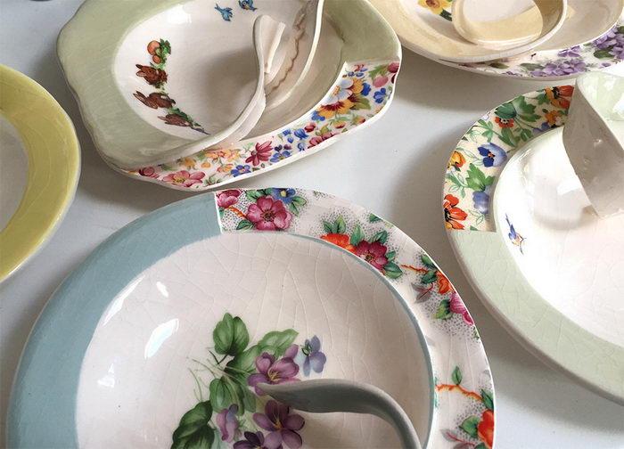 Фарфоровая посуда в разрезе: работы Beccy Ridsdel