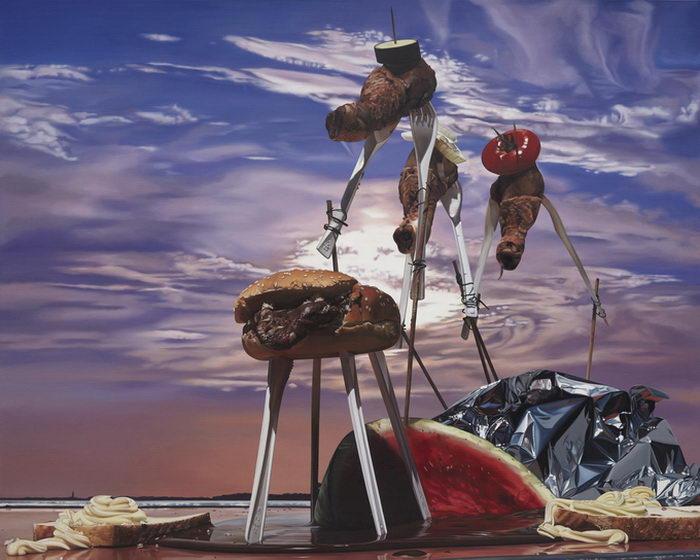 Сюрреалистические картины Till Rabus