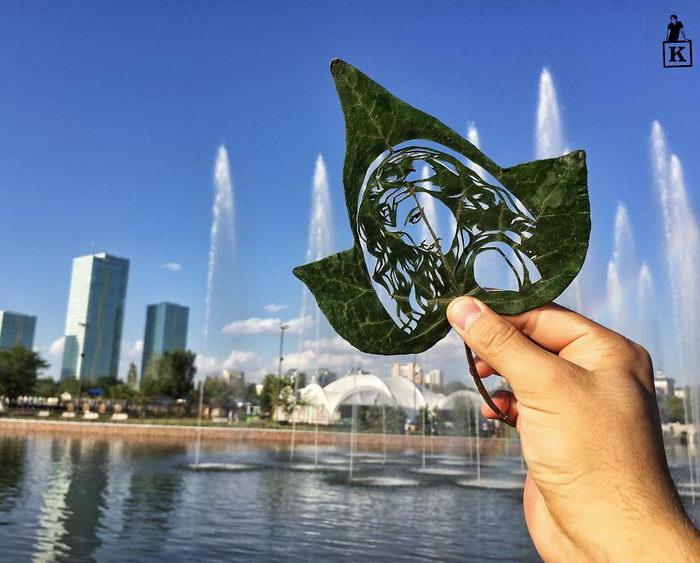 Резьба по листьям Kanat Nurtazin