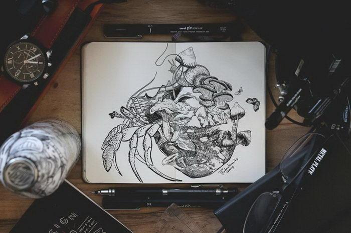 Рисунки животных Joseph Catimbang