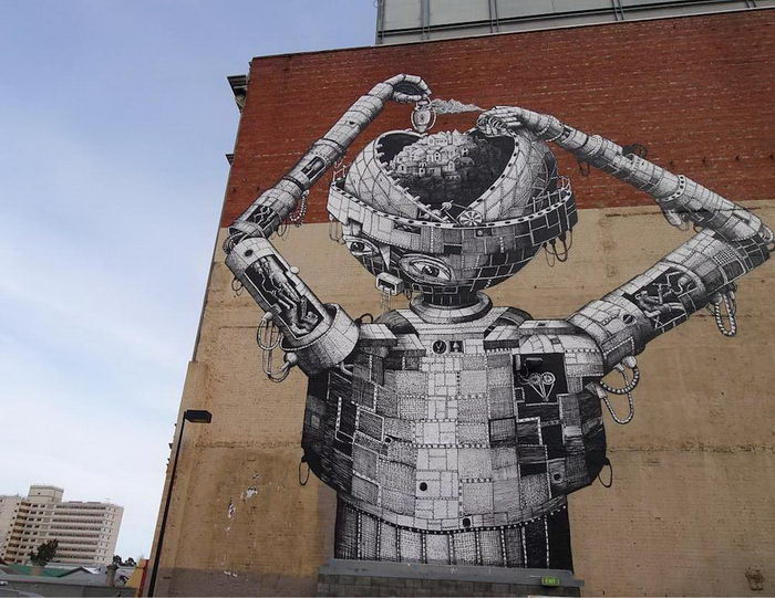 Стрит-арт на улицах мира Phlegm