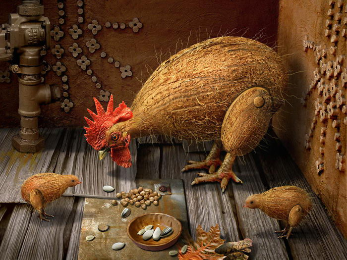 Животные и еда: абсурдная подборка с DesignCrowd