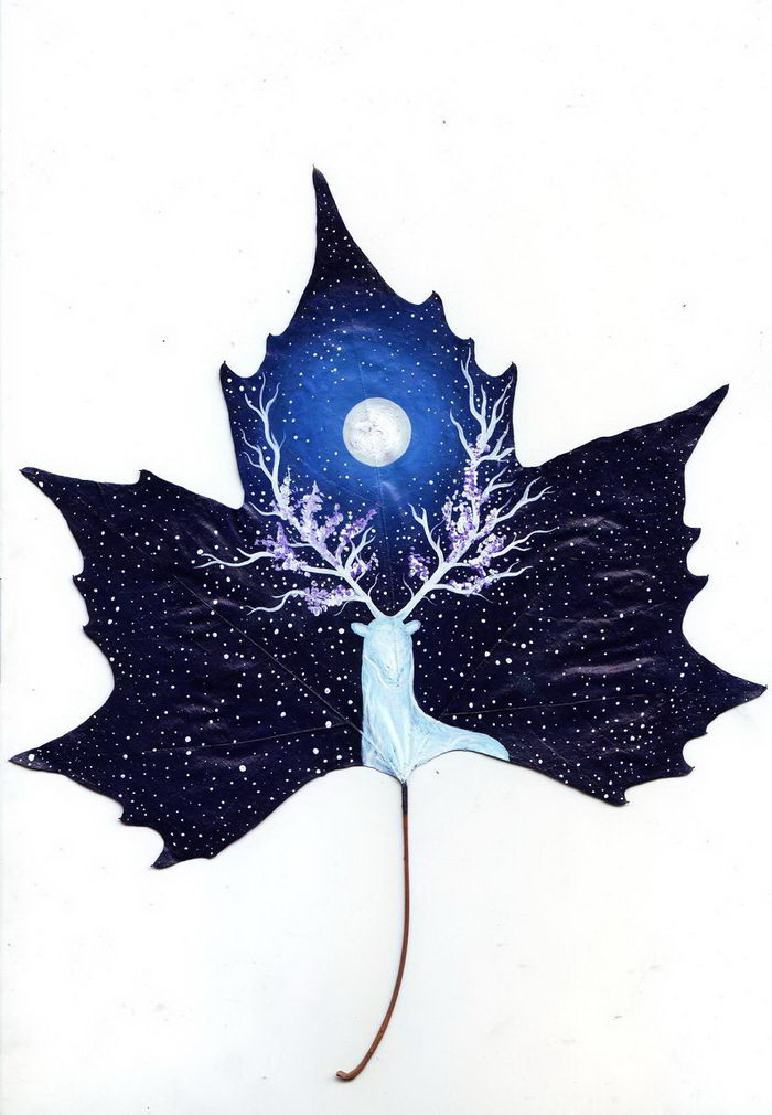 20 опавших листьев с картинами: проект Nancy Woland и Beka Zaridze