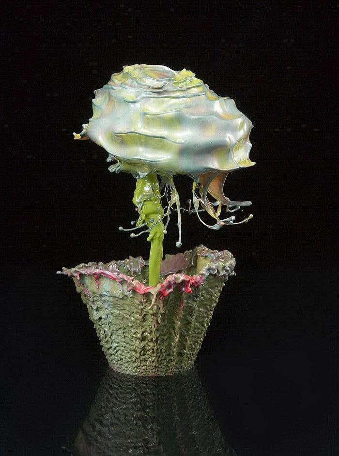 Невероятные цветы из капель: шедевры Jack Long