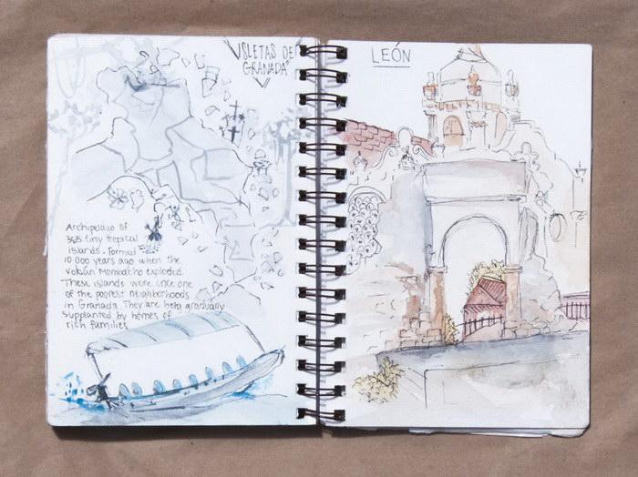 Альбом зарисовок из путешествий Veronique Hamel