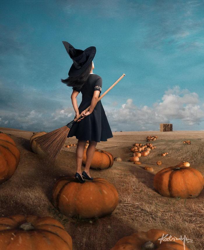 Жизнь ведьмы: веселый фотопроект Katrina Yu
