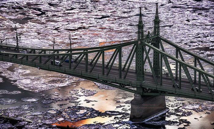 Замерзший Дунай в фотографиях Tam?s Rizsavi