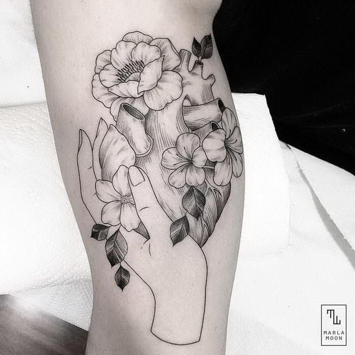 Стильные татуировки Marla Moon