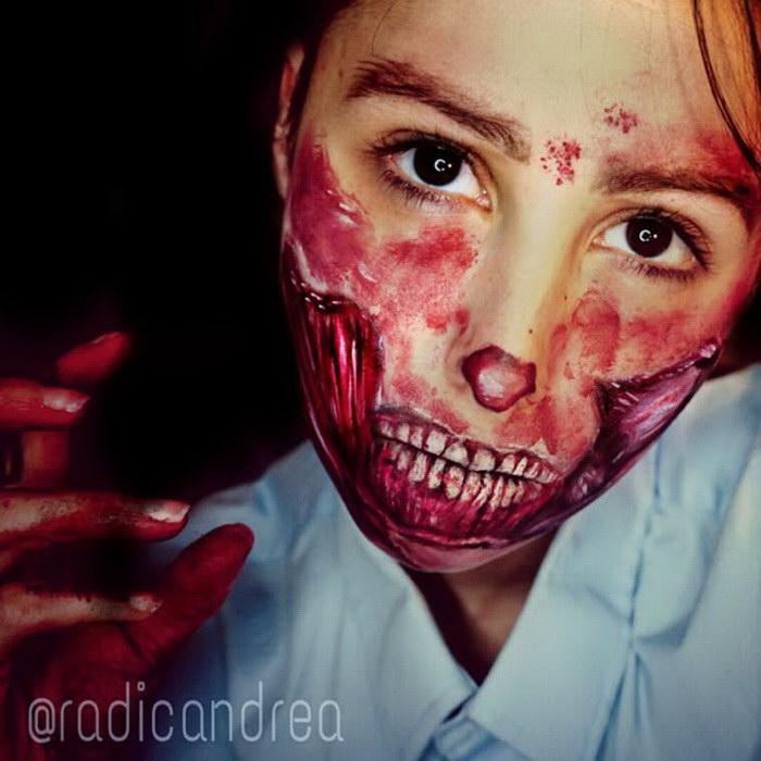 Страшные макияжи Andrea De La Ossa