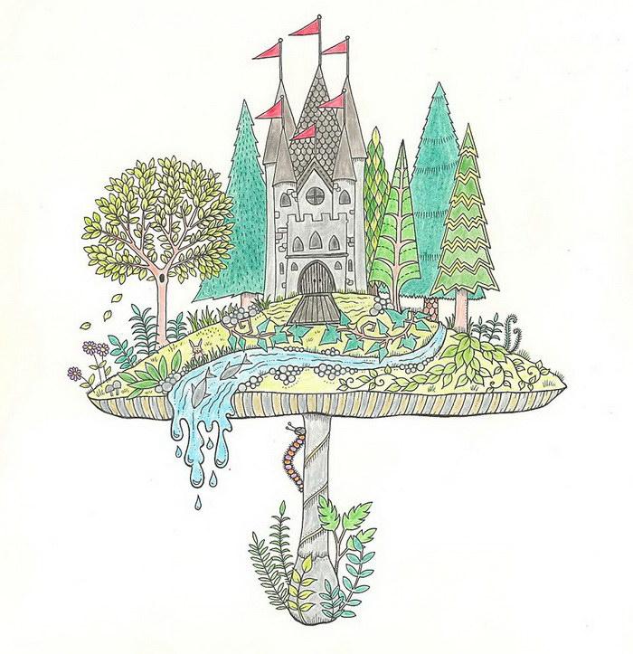 Раскраски для взрослых — прекрасный проект Johanna Basford