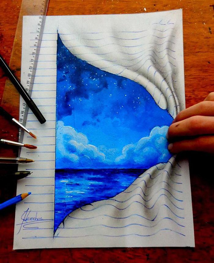 3D-рисунки 16-летнего школьника João Carvalho