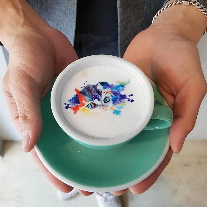 Кофейный арт Kangbin Lee