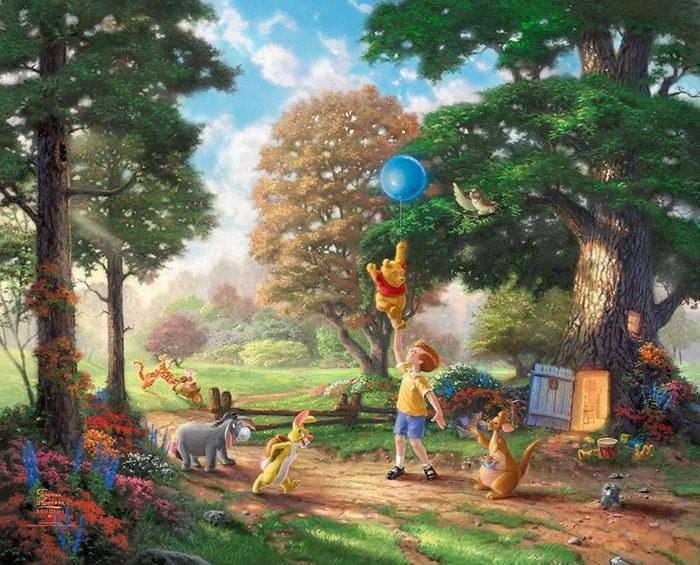 Удивительный диснеевский мир в иллюстрациях Thomas Kinkade