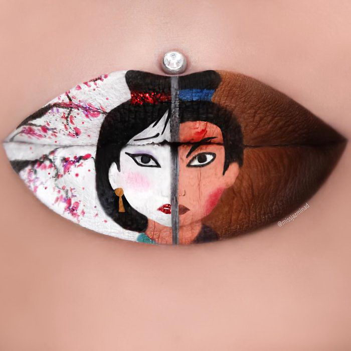 Губы как холст: шедевры Jazmina Daniel