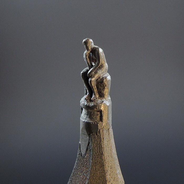 Скульптуры на грифелях карандашей Jasenko Đorđević
