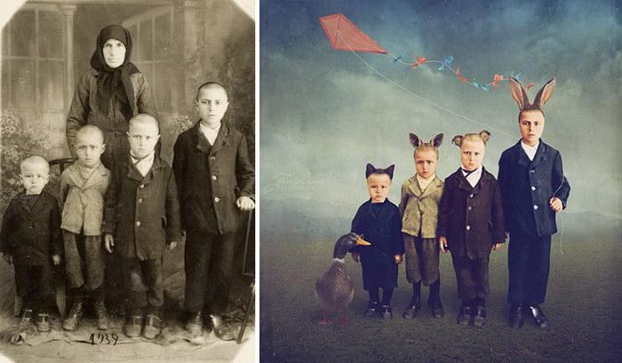 Превращение старых фотографий в удивительные иллюстрации