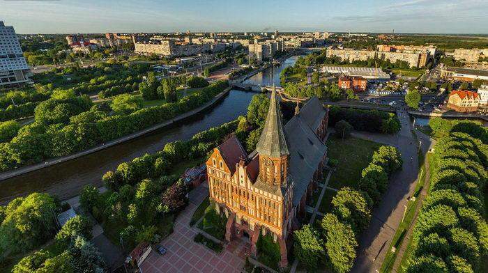 Калининград с высоты птичьего полета