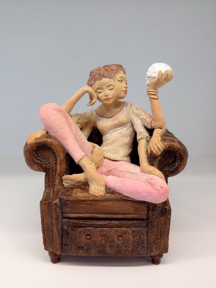 Деревянные скульптуры Yoshitoshi Kanemaki