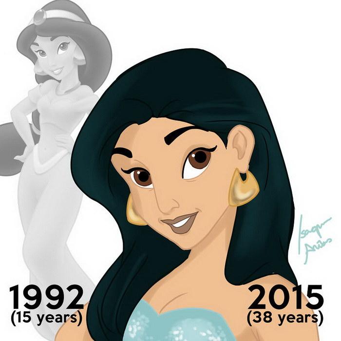 Постаревшие принцессы Disney в рисунках Isaque Arêas