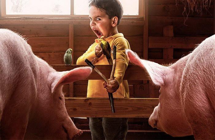 Рекламные фотографии детей: работы Adrian Sommeling