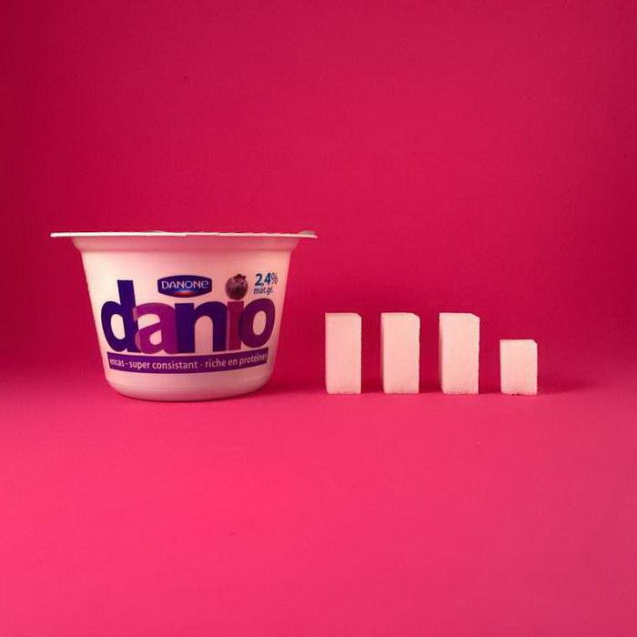 Количество сахара во вредной еде: проект Dealer de Sucre