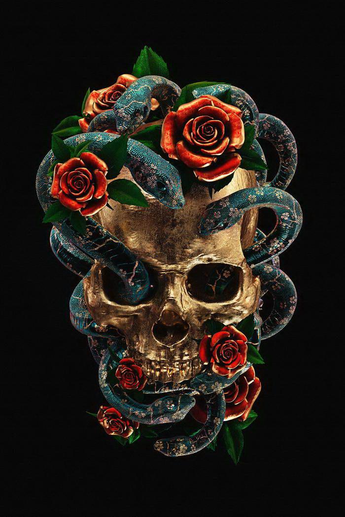 Татуировки как 3D-картины: работы Billelis