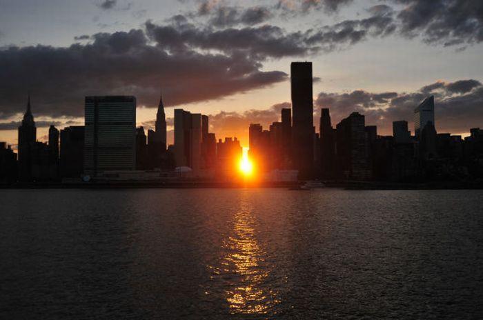 Манхэттен в лучах заката