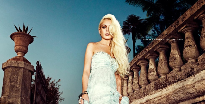 Lindsay Lohan в нарядах от Philipp Plein