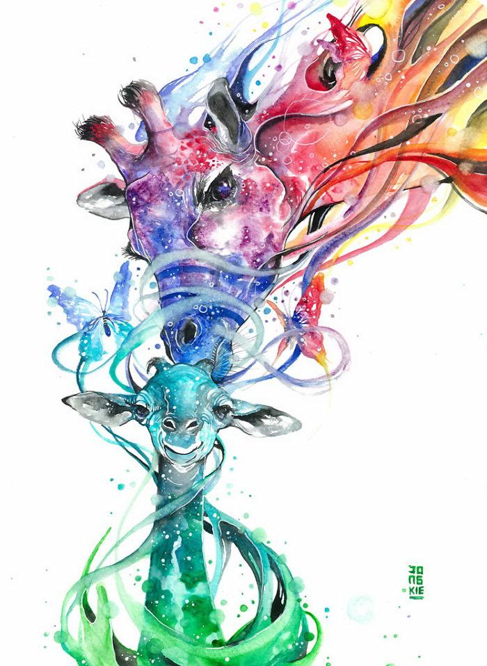 Акварельные иллюстрации Luqman Reza