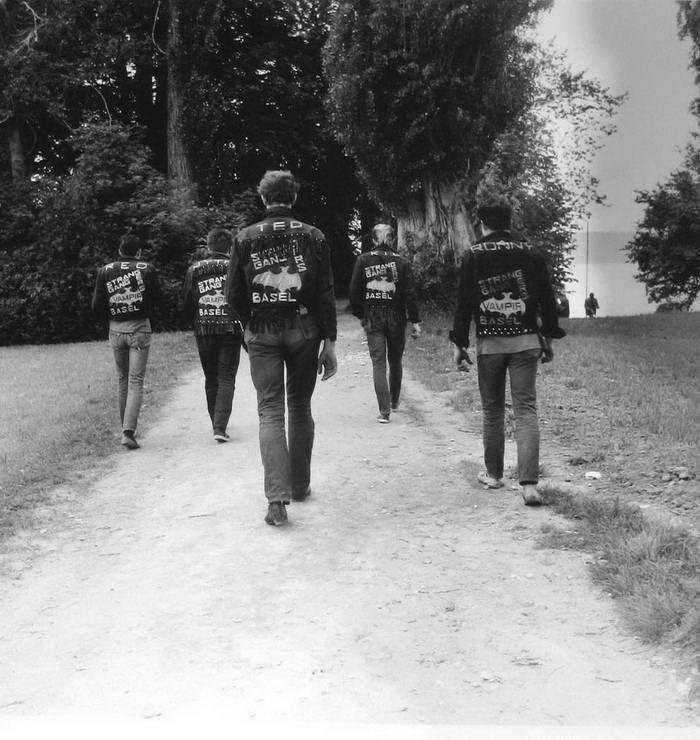 Первые рокеры Швейцарии в фото Karlheinz Weinberger