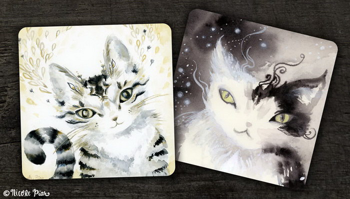 Кошки на рисунках Nicole Piar