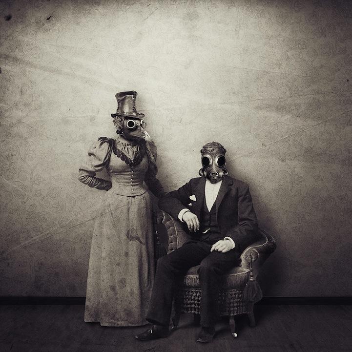 Люди будущего в открытках Francesco Romoli