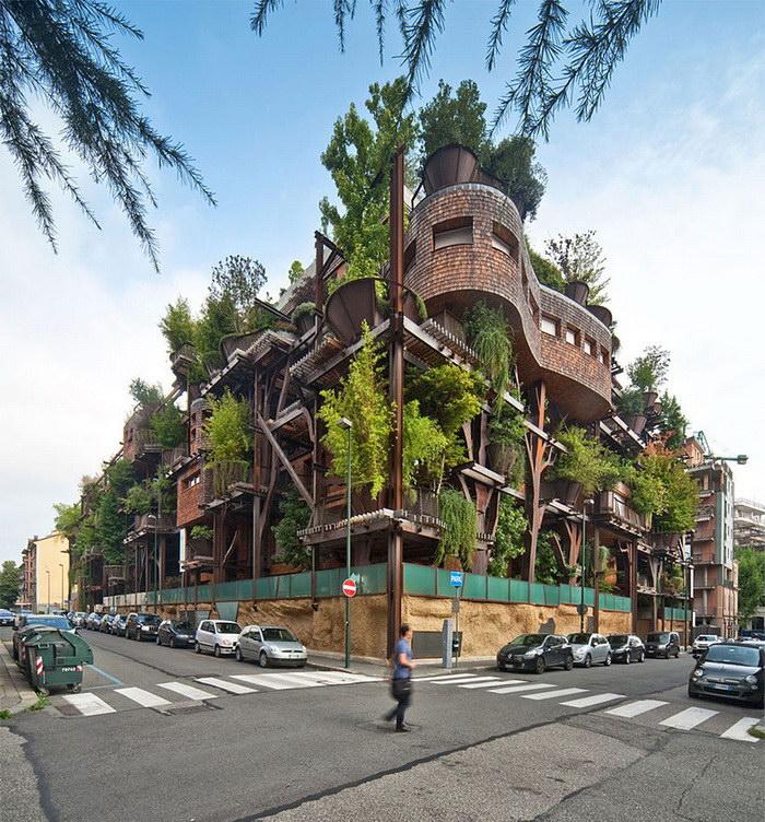 Городской оазис: зеленый дом в центре Турина