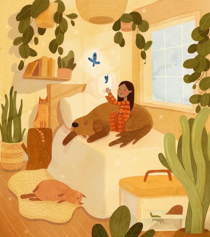 Необычные иллюстрации Vivian Mineker