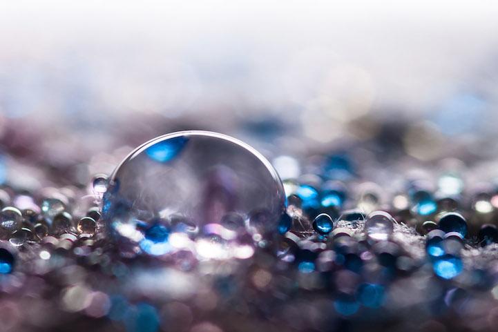 Макро-фотографии капель воды