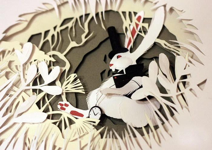 Бумажные иллюстрации Марины Адамовой