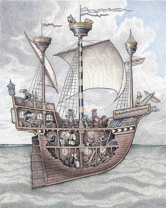 Корабли в рисунках Tom Crestodina