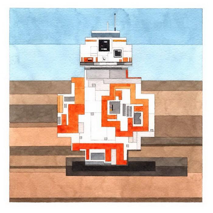 Геометрические постеры Звездных Войн