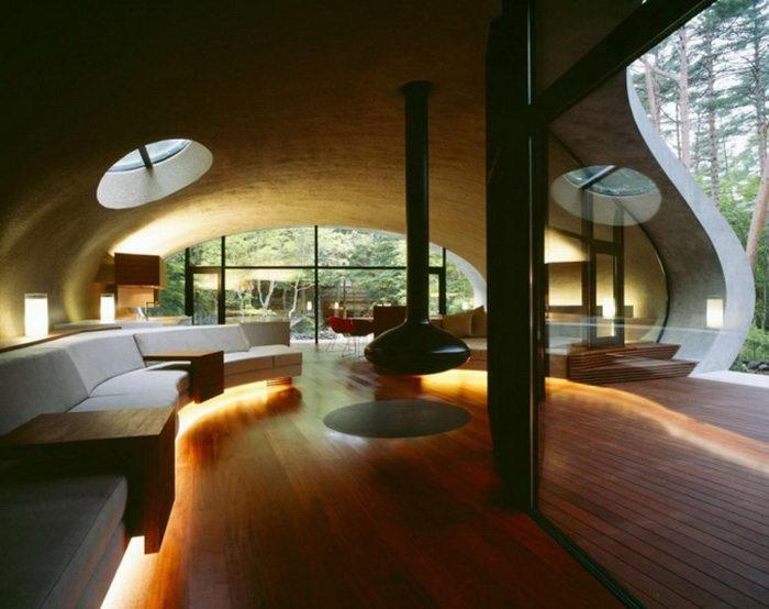 Футуристический дом в Нагано