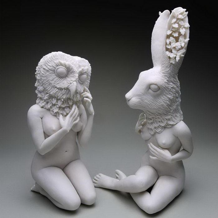 Странные скульптуры животных Crystal Morey