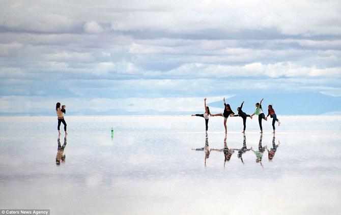 Соляное озеро в Боливии