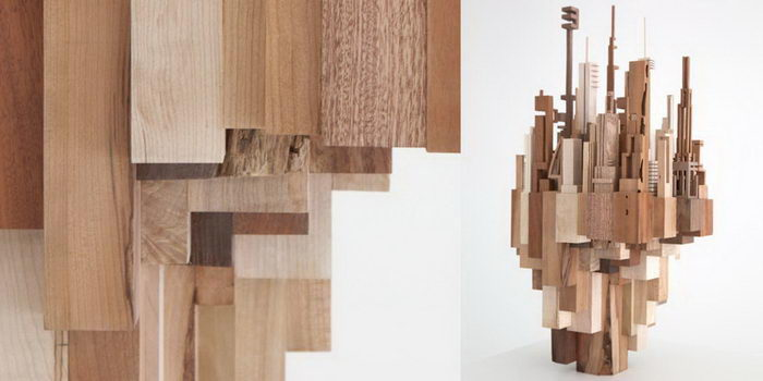 Деревянные скульптуры городов James McNabb